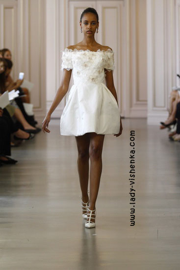 Короткі весільні сукні 2016 Oscar De La Renta