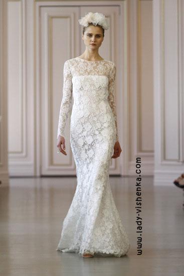 Весільні сукні 2016 року фото Oscar De La Renta