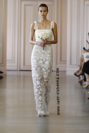 Обтягуючі весільна сукня Oscar De La Renta