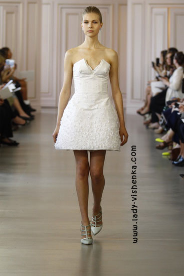 Короткі весільні сукні Oscar De La Renta