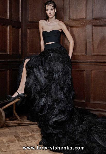 Чорне весільне плаття 2016 - Vera Wang