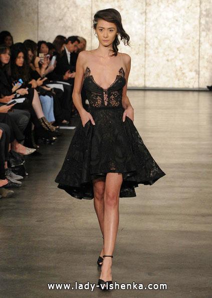 Коротке весільне плаття чорного кольору - Inbal Dror