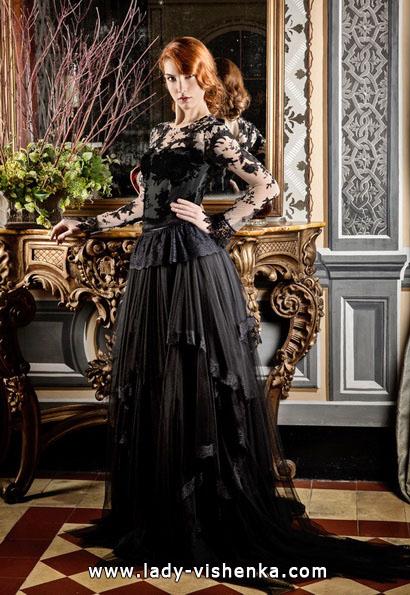 Чорне весільне плаття фото - Jordi Dalmau