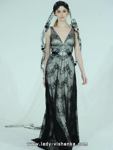 Чорно-біле весільне плаття 2016 - Claire Pettibone