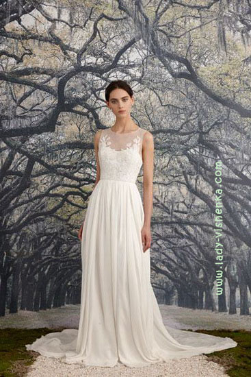 Просте весільну сукню Nicole Miller