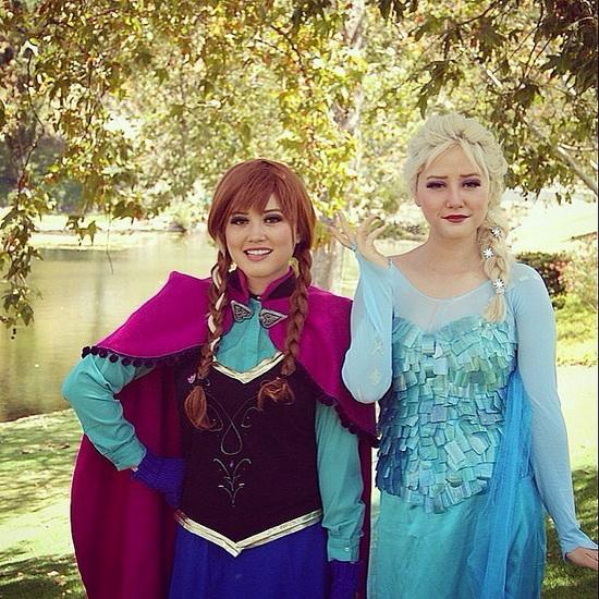 Ельза і Анна - ідея костюма на Хеллоуїн для дівчини