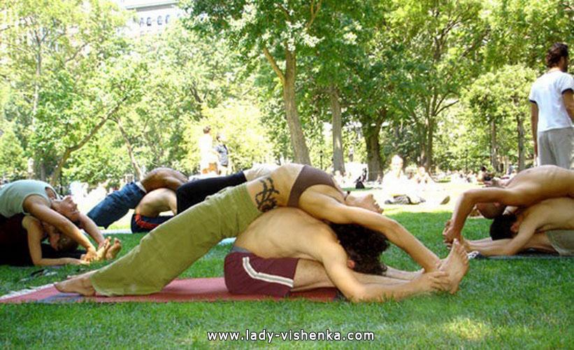 Йога для двох - Ледачий нахил вперед