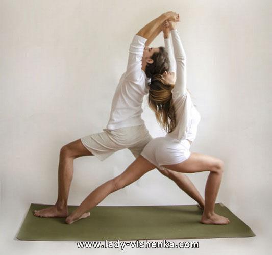 Йога для двох - Подвійний Воїн