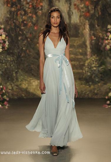 Блакитне весільна сукня