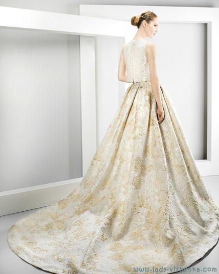 Весільна сукня з кольоровою спідницею Jesus Peiro