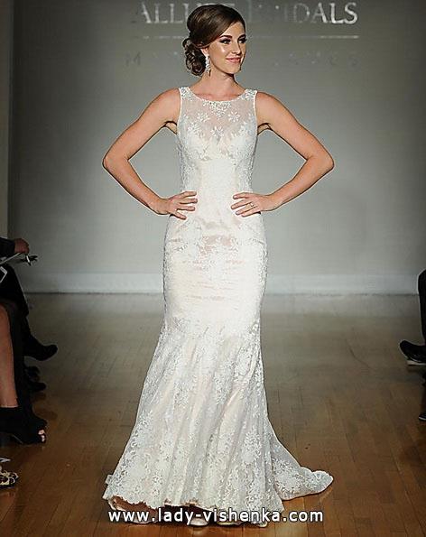 Мереживне весільне плаття - русалка - Allure