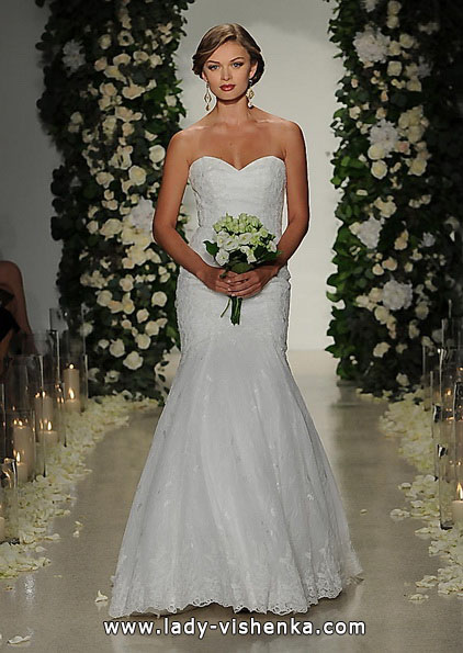 Мереживна весільна сукня - рибка - Anne Barge
