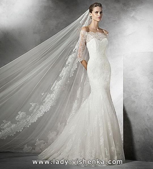 Мереживна весільна сукня - рибка - Pronivias