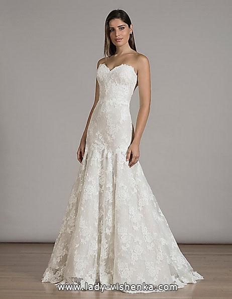 Мереживна весільна сукня - рибка - Liancarlo