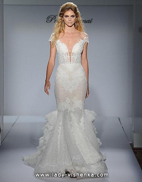 Мереживне весільне плаття - русалка - Pnina Tornai