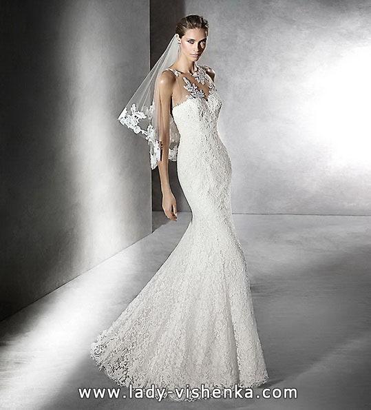Мереживне весільне плаття - русалка - Pronovias