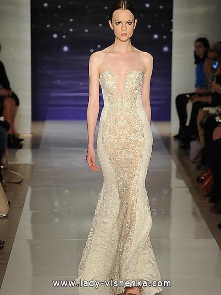 Мереживна весільна сукня - рибка - Reem Acra