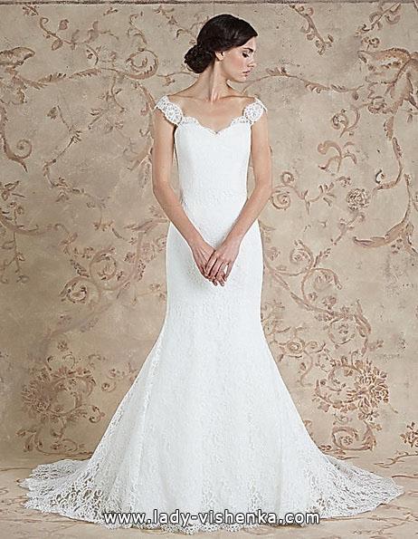 Мереживне весільне плаття - русалка - Sareh Nouri