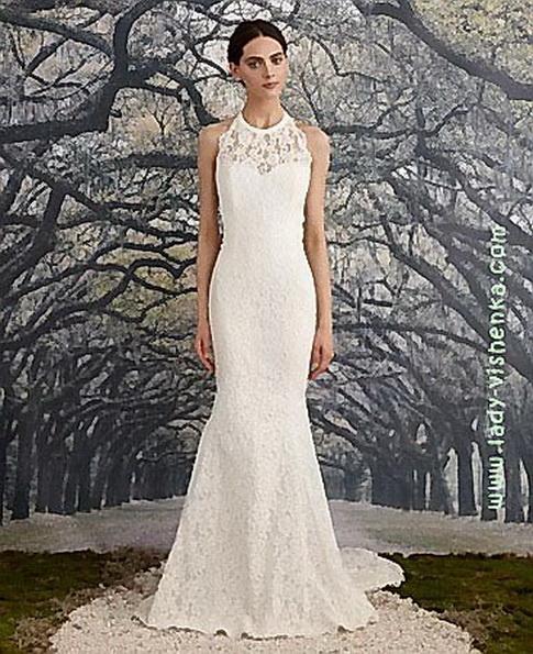 Мереживна весільна сукня - рибка - Nicole Miller