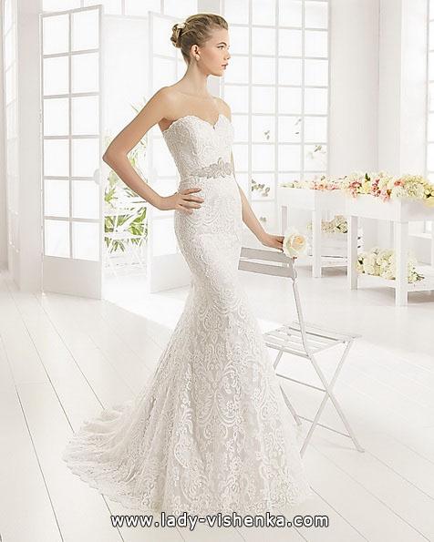 Мереживне весільне плаття - русалка 2016 - Aire Barcelona