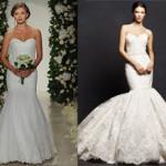 Кружевное свадебное платье — рыбка