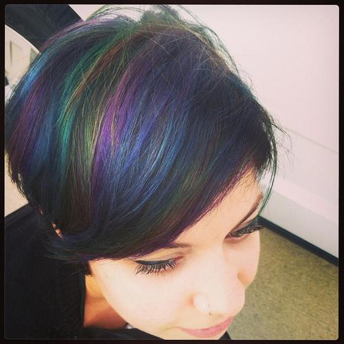 Оригінальний колір волосся - веселка