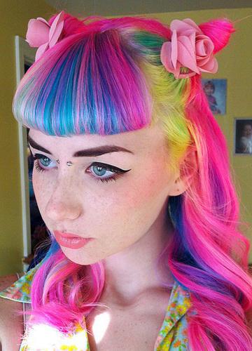 Колір волосся смугами