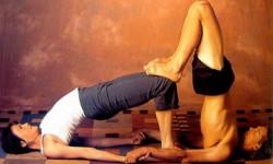 Пози йоги для двох на розтяжку