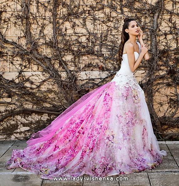 Рожеве весільне плаття 2016 - Jordi Dalmau