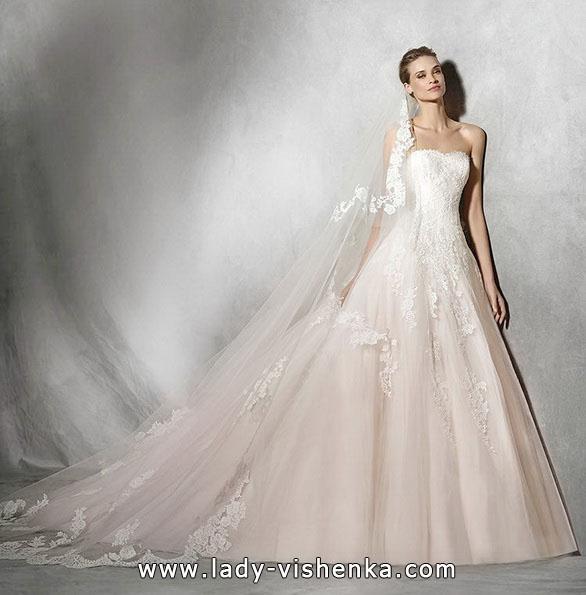 Рожеве весільне плаття 2016 - Pronovias