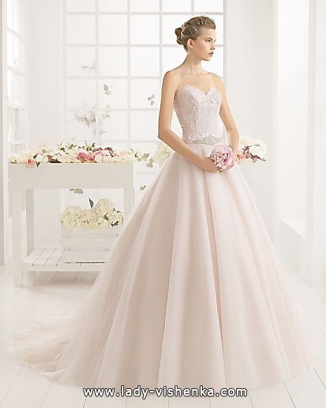 Рожеве весільне плаття 2016 - Aire Barcelona
