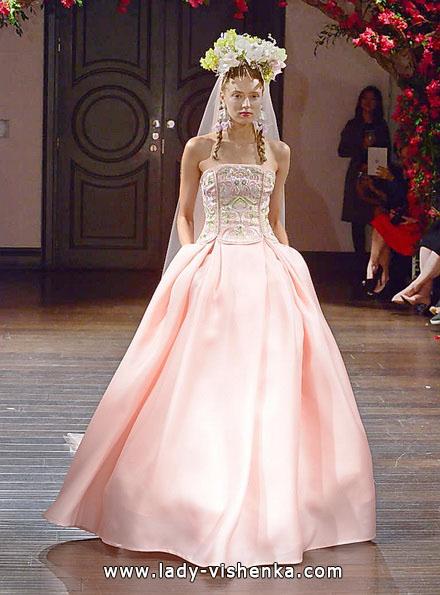 Рожеве весільне плаття 2016 - Naeem Khan