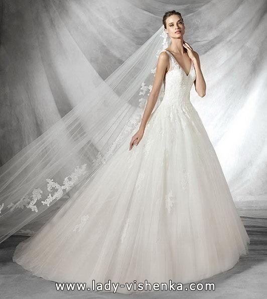 Мереживна весільна сукня принцеси - Pronovias