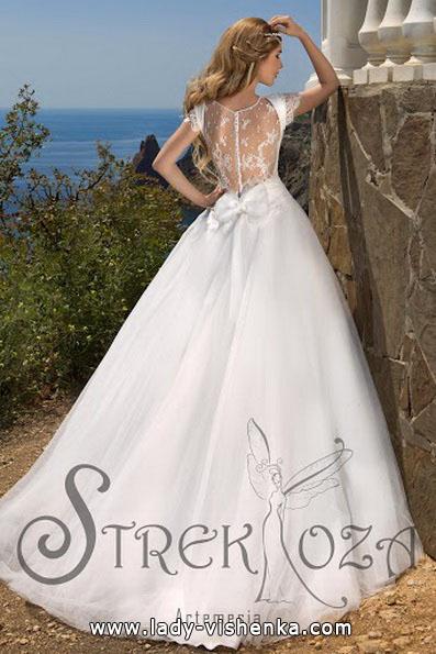Весільну сукню принцеси - спина - Strekoza
