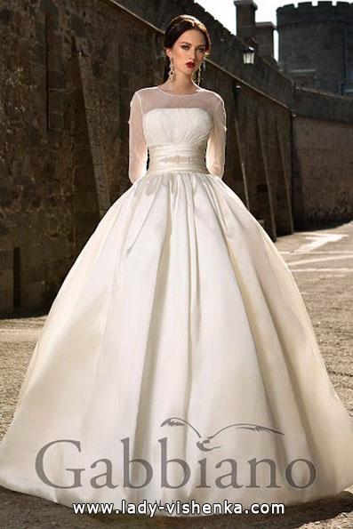 Атласна весільна сукня принцеси - Gabbiano
