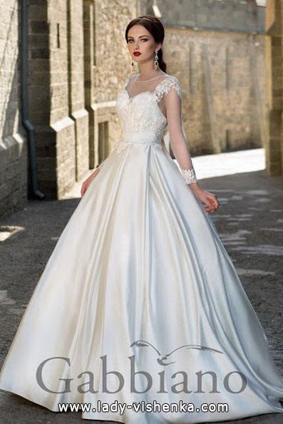 Весільну сукню принцеси з мереживним верхом - Gabbiano