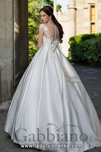 Весільну сукню принцеси з атласним бантом - Gabbiano