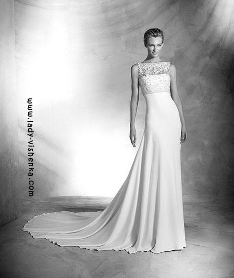 Біле весільну сукню Pronovias