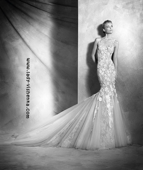 Прозоре весільну сукню Pronovias