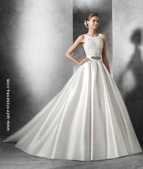 пишні Весільні сукні зі шлейфом 2016 Pronovias