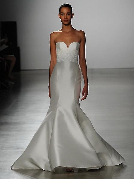 Атласна весільна сукня - риб'ячий хвіст - Kenneth Pool