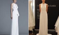 Прямі весільні сукні 2016