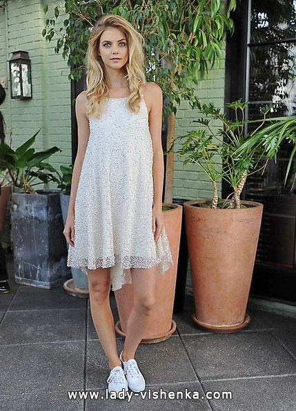 Весільне плаття коротке мереживне 2016 - Sarah Seven