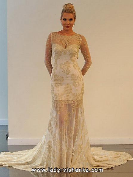 Весільне плаття коротке мереживне 2016 - Yumi Katsura
