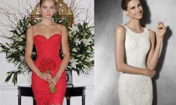 Весільне плаття коротке мереживне - 30 фото