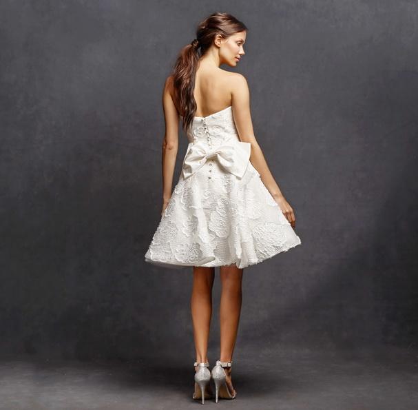 Коротке весільне плаття з пишною спідницею 2016 фото - Isabelle Armstrong