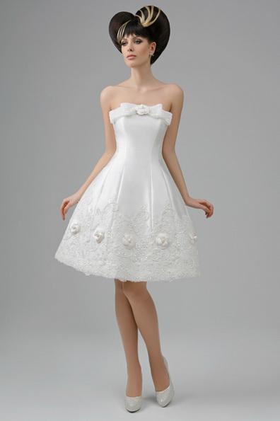 Короткий пишне весільне плаття принцеси - Tatiana Kaplun