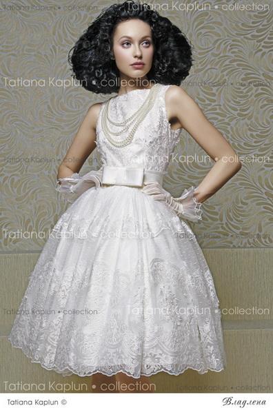 Короткий пишна весільна сукня з бантом 2016 - Tatiana Kaplun