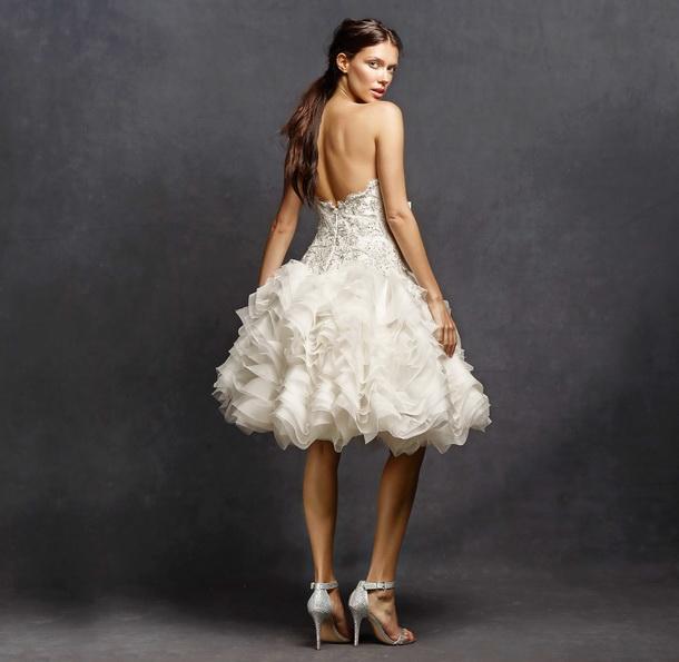 Коротке весільне плаття з пишною спідницею 2016 - Isabelle Armstrong