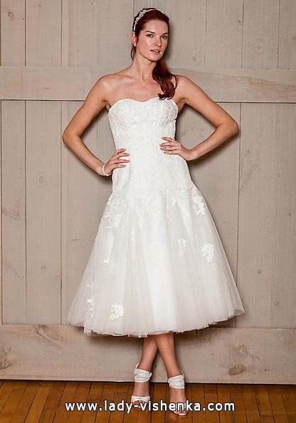 Короткі пишні весільні сукні 2016 - david's Bridal